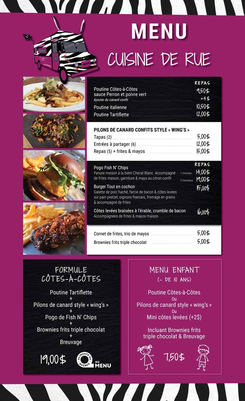 Mj 2 cotes a cotes menu cuisine de rue web